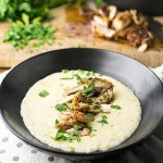 Cajun Chicken Thighs with Cheesy Grits