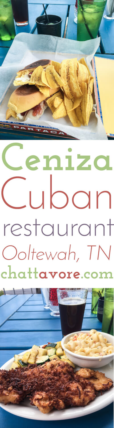 Ceniza Cuban restaurant, located in Cambridge Square in Ooltewah, TN (near Chattanooga), opened in the spring of 2016 and serves Cuban food and cocktails.   Restaurant Review from Chattavore.com