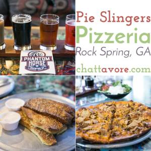 Located in Rock Spring, Georgia, near the Chickamauga Battlefield, Pie Slingers Pizzeria serves hand-tossed pizza and beer brewed in house by Phantom Horse Brewery.   restaurant review from Chattavore.com