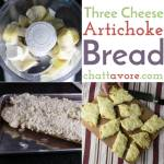 Three Cheese Artichoke Bread