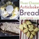 Three Cheese Artichoke Bread