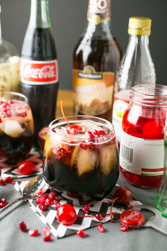 This adult Cheerwine cocktail is quick and easy, and if you have a reasonably stocked liquor cabinet, you probably have what you need to make it right now. | Recipe from Chattavore.com