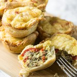Sausage and Red Pepper Mini Quiches
