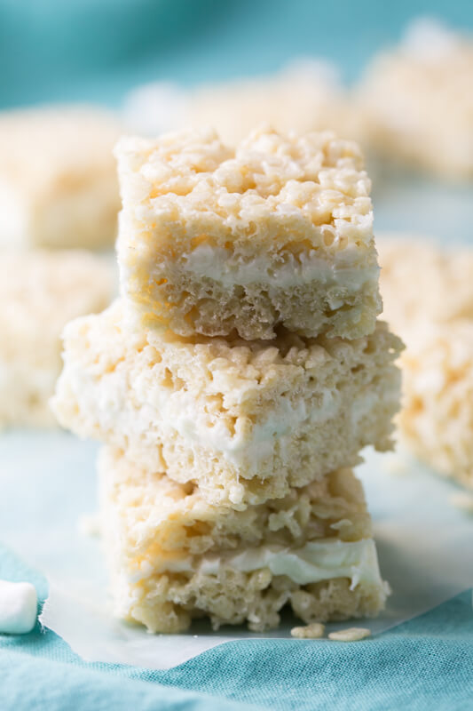 Awesome Wedding Cake Rice Krispies Treats Are Pretty Much Heaven In Rice Krispies  Treats Form. After