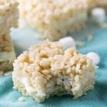 Wedding Cake Rice Krispies Treats
