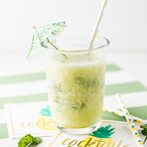 A frozen pineapple mojito just tastes like summer! It's a great way to cool off on a hot day and a delicious way to kick back and relax!   Recipe from Chattavore.com