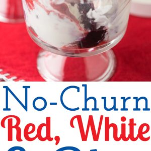 This easy no-churn red, white, and blue ice cream doesn't require an ice cream maker, only uses a few ingredients, and, well, is just plain delicious! | Recipe from Chattavore.com