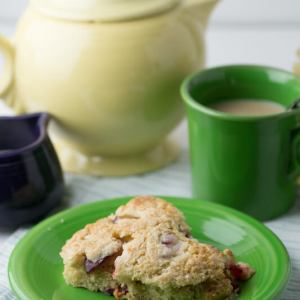 These easy scones with Greek yogurt are full of good stuff - yogurt, whole wheat, and fruit - and they're so delicious you won't be able to resist!   Recipe from Chattavore.com