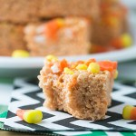 Candy Corn Rice Krispies Treats + Video