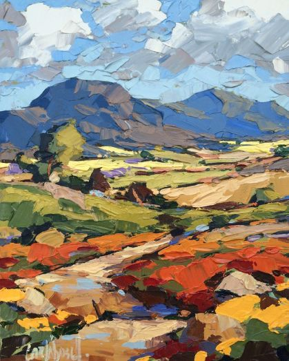 One of Carla Bosch's colourful landscapes...