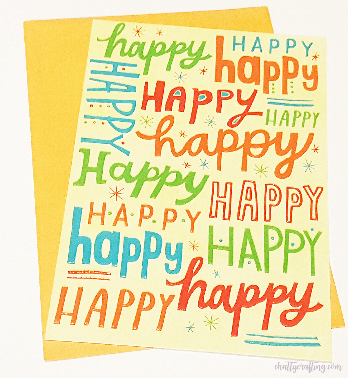 You can find endless FREE fonts here to download, and get started with your paper crafts right now! Just have fun with it! Here's a couple of super fun greeting cards to get some font inspiration!