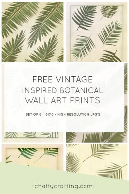 Free vintage inspired wall art.