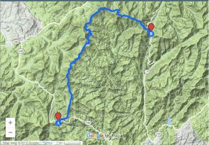 Hiking trails in Towns County