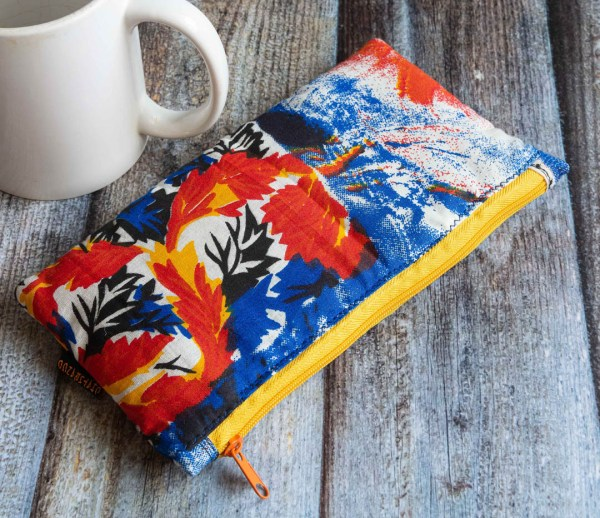 Slim Pouch Red Yellow Abstract Print 1 https://chaturango.com/slim-pouch-blue-red-yellow-abstract-print/