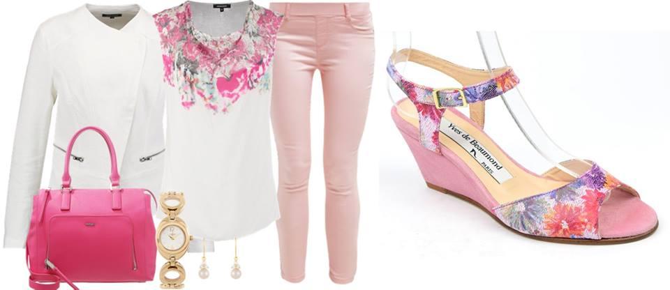 Inspiration rose et blanc