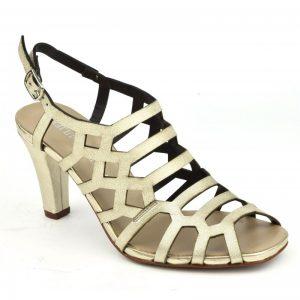 Sandales Plumers de soirée dorées, petits pieds