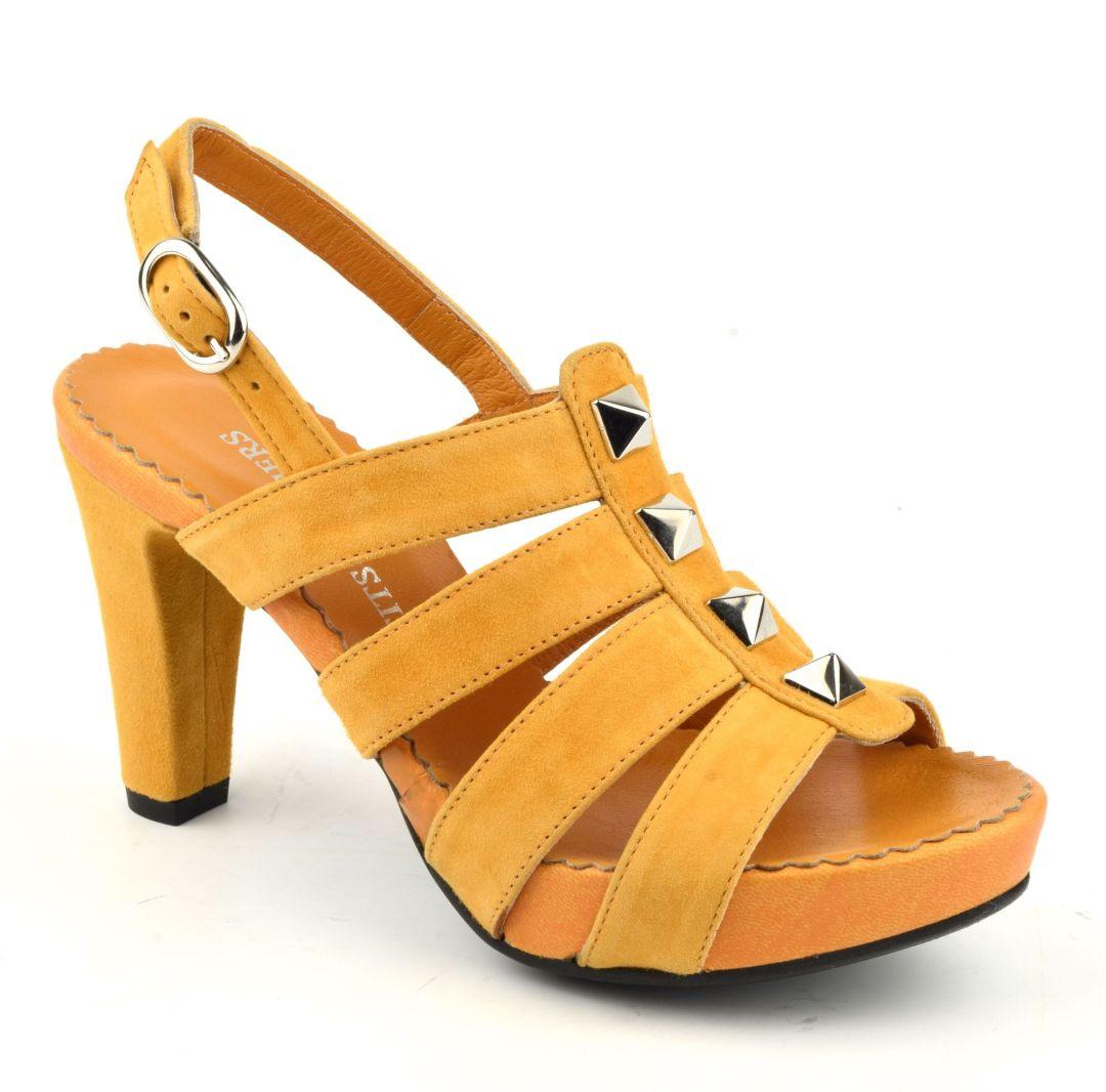 Sandales moutarde femme petites pointures