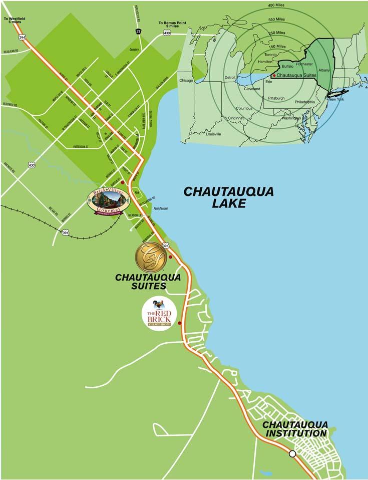 Directions to Chautauqua Suites