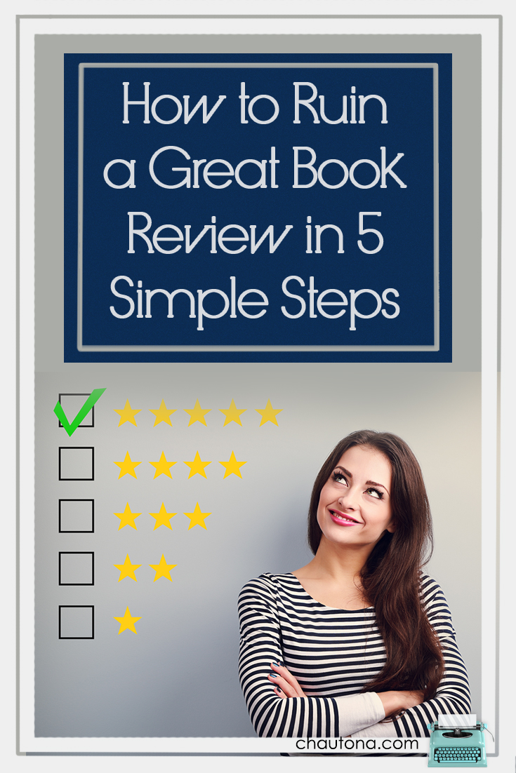 Everyone appreciates a great book review, but it's easy to waste readers' time (and sometimes injure authors) when you dump unhelpful information into a review or knock off stars by being unreasonable or unjust. Don't be a review killer!