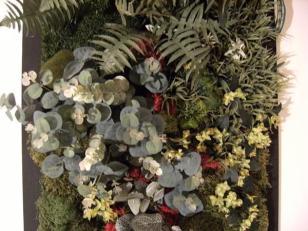 Cadre végétal en feuillages artificiels et stabilisés So vegetals chez Chaux room