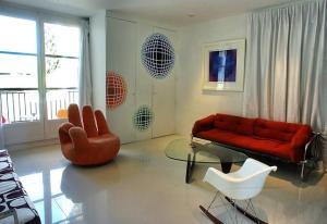 Decors peints inspiration vasarely chaux room 9