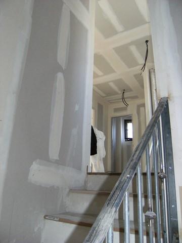 Chantier peinture traditionnelle du bâtiment chaux room 39