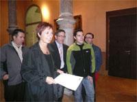 Encuentro de CHA con el Justicia de Aragón