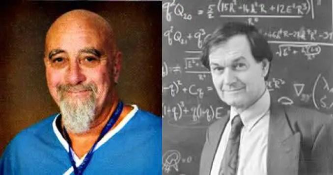 Dr. Stuart Hamerroff e o físico britânico Sir Roger Penrose