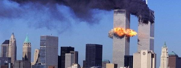 Ataque terrorista de 11 de setembro às Torres Gêmeas do World Trade Center.