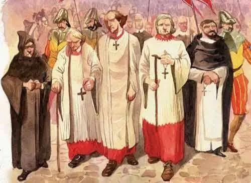 A Santa Inquisição foi criada na Idade Média (século XIII) e era dirigida pela Igreja Católica Romana
