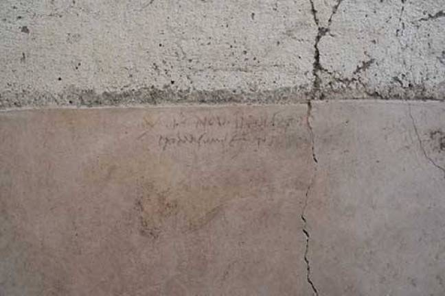 O graffiti encontrado - foto Parco Archeologico di Pompei