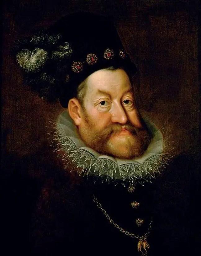 Retrato do imperador romano sagrado Rudolf II por Hans von Aachen
