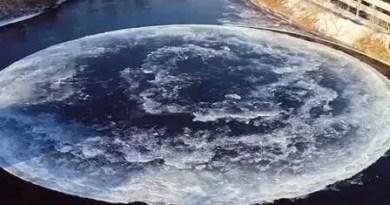 O misterioso círculo de gelo