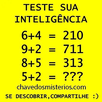 Teste de Inteligência matemática... Pense, analise e tente descobrir o segredo!