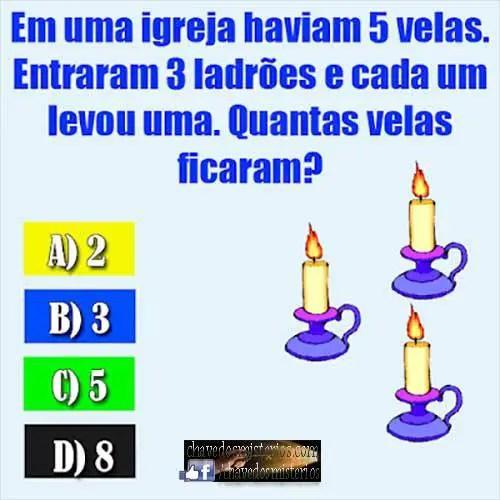 Desafio: A igreja, as velas e os 3 ladrões