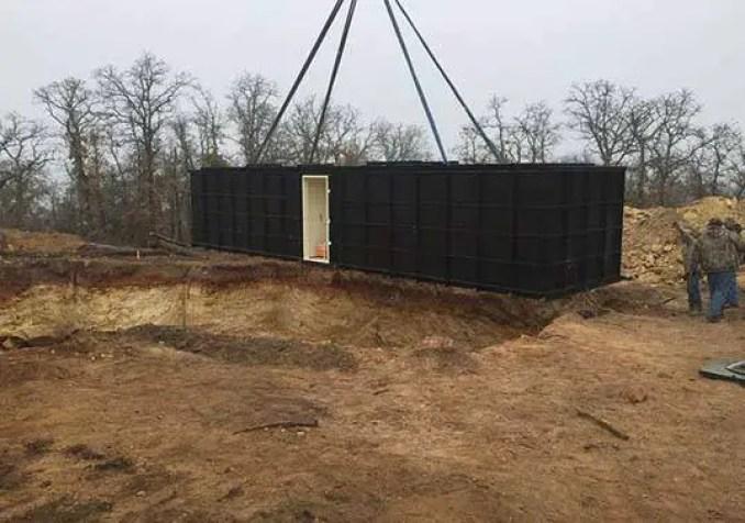 Os dois bunkers mais recentes de 300 metros quadrados