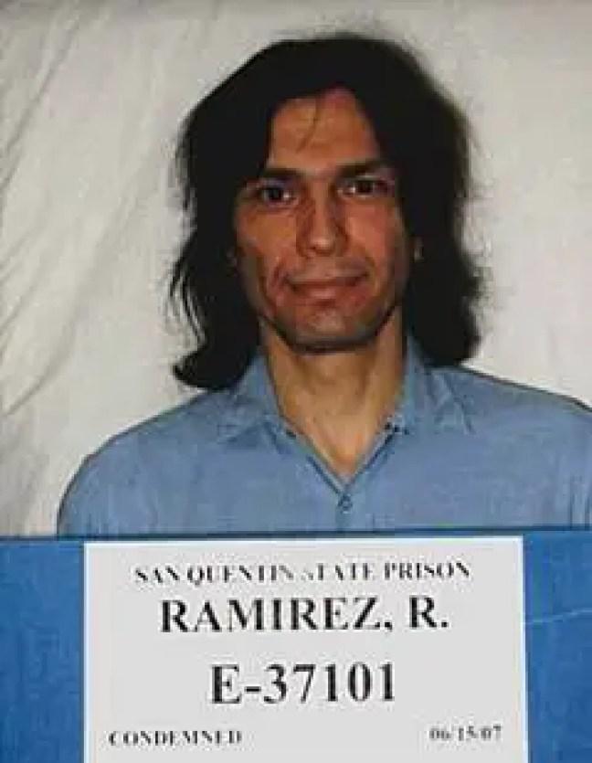"""Richard Ramirez, também conhecido pelo apelido de """"The Night Stalker"""""""