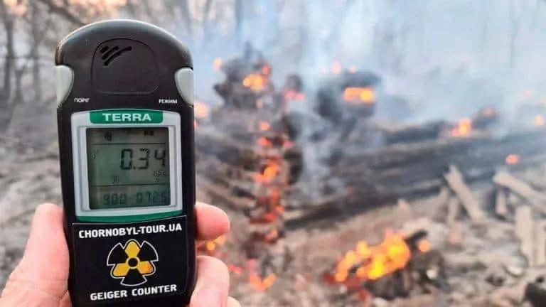 Um Incêndio florestal em Chernobyl esta causando aumento nos níveis de radiação