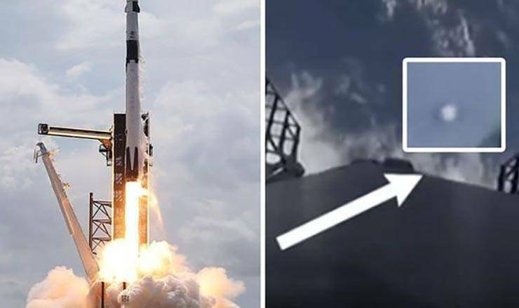 Vários UFOs aparecem durante o lançamento histórico da SpaceX
