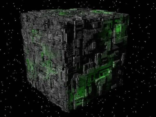 Cubo de Borg Imagem da Serie Star trek
