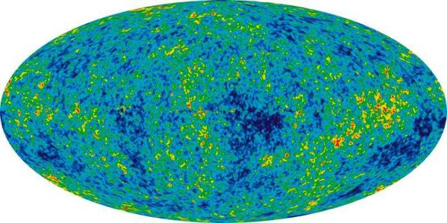 Radiação de fundo de micro-ondas.