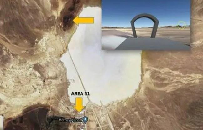 Portal tipo Stargate descoberto perto da Área 51