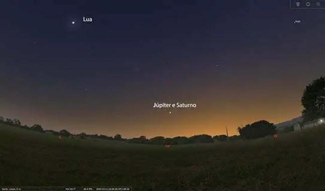 21 de dezembro de 2020 ocorreu a chamada grande conjunção de Júpiter e Saturno.