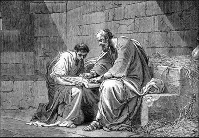 Paulo retratado divulgando seus ensinamentos de Cristo
