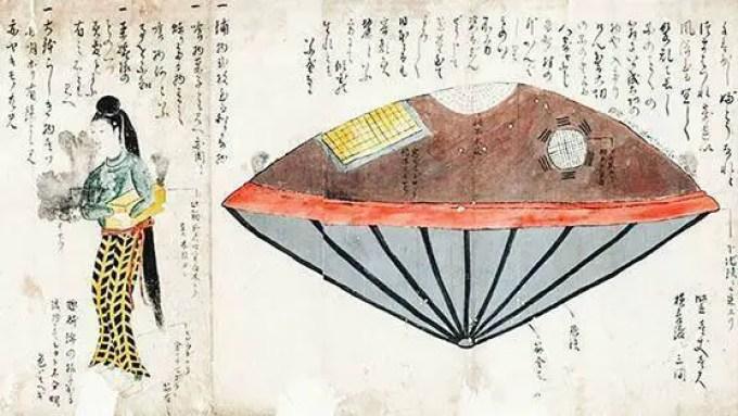 Exemplo de xilogravuras do Japão