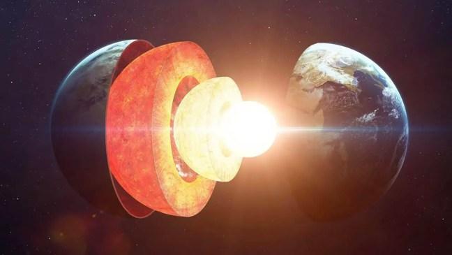 O núcleo da Terra está crescendo em um padrão desequilibrado