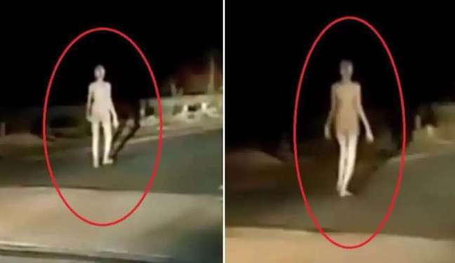 Um humanoide alienígena