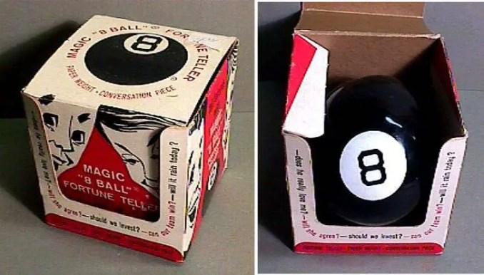 Magic 8 Ball: Das 20 respostas possíveis fornecidas, dez são afirmativas, cinco são negativas e cinco são aquelas respostas sem compromisso.