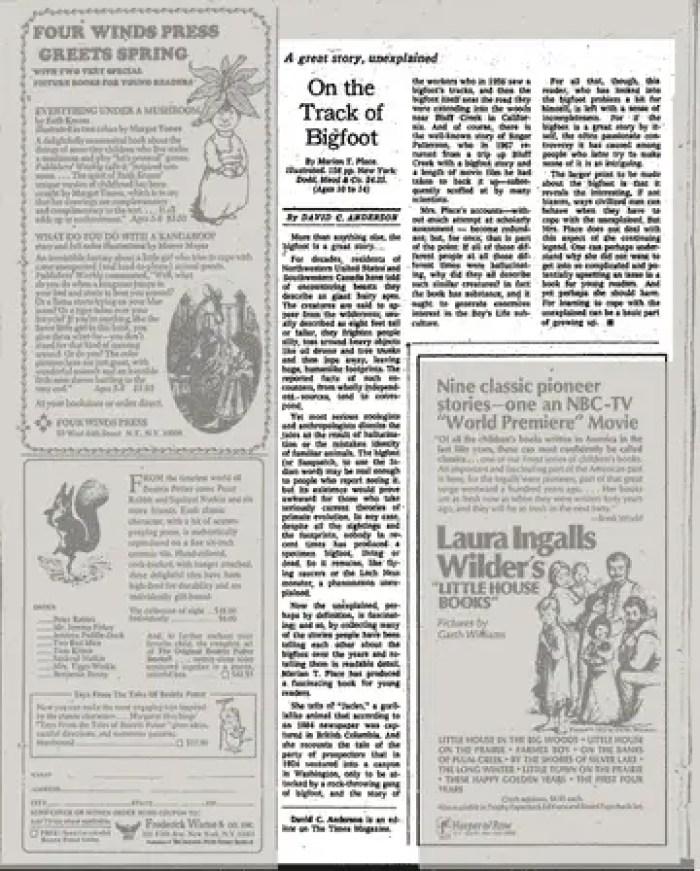 New York Times - 5 de maio de 1974: Na trilha do Pé Grande