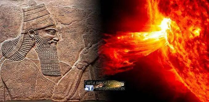 A antiga tabuinha assíria contendo referências a uma enorme tempestade solar